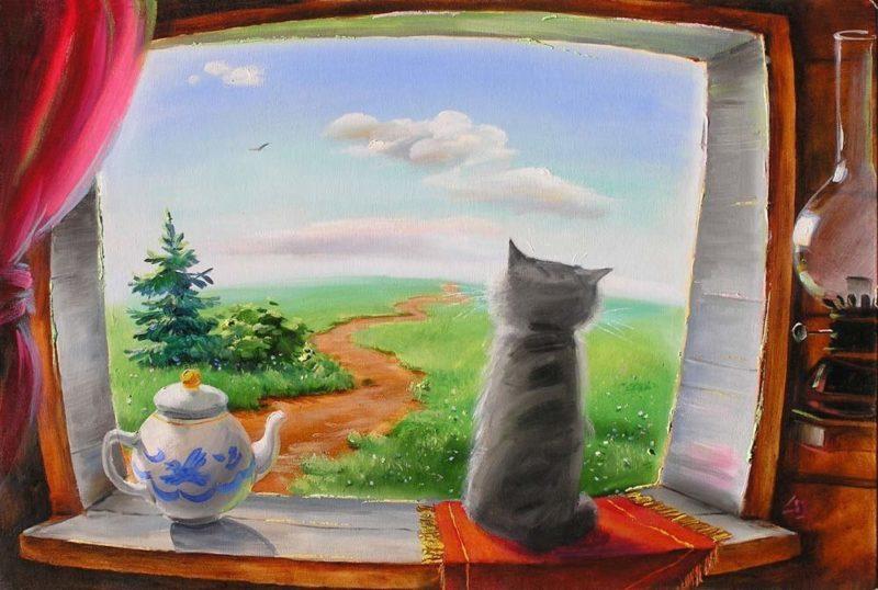Рисовал на окне о чем мечтал
